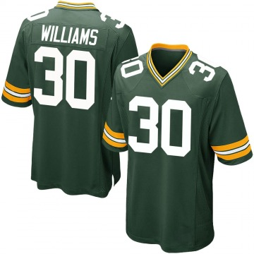 Youth Nike Green Bay Packers Jamaal Williams Green Team Color Jersey - Game