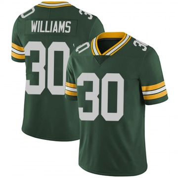 Youth Nike Green Bay Packers Jamaal Williams Green Team Color Vapor Untouchable Jersey - Limited