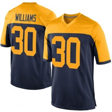 Youth Nike Green Bay Packers Jamaal Williams Navy Alternate Jersey - Game