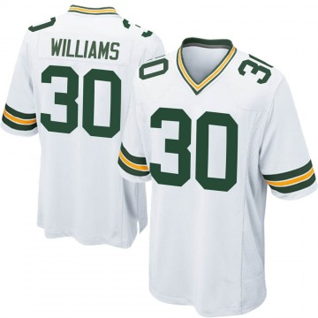 Youth Nike Green Bay Packers Jamaal Williams White Jersey - Game