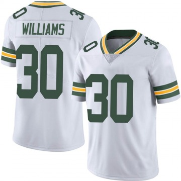 Youth Nike Green Bay Packers Jamaal Williams White Vapor Untouchable Jersey - Limited
