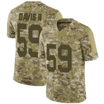 Youth Nike Green Bay Packers Jamal Davis II Camo 2018 Salute to Service Jersey - Limited