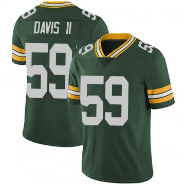 Youth Nike Green Bay Packers Jamal Davis II Green Team Color Vapor Untouchable Jersey - Limited