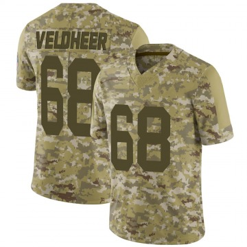 Youth Nike Green Bay Packers Jared Veldheer Camo 2018 Salute to Service Jersey - Limited