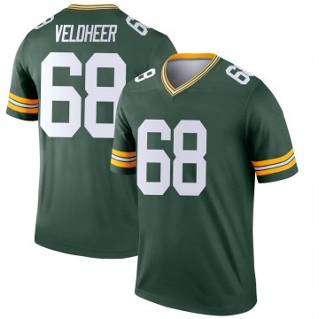 Youth Nike Green Bay Packers Jared Veldheer Green Jersey - Legend