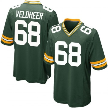 Youth Nike Green Bay Packers Jared Veldheer Green Team Color Jersey - Game