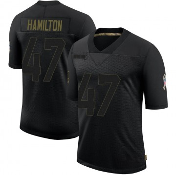 Youth Nike Green Bay Packers Javien Hamilton Black 2020 Salute To Service Jersey - Limited