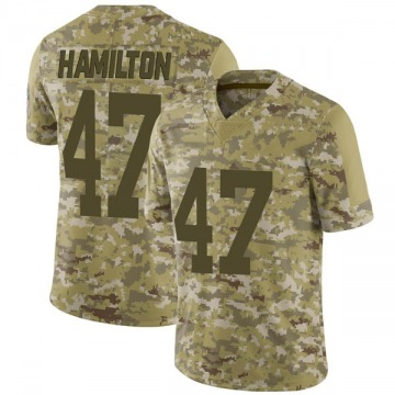 Youth Nike Green Bay Packers Javien Hamilton Camo 2018 Salute to Service Jersey - Limited