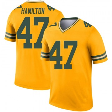 Youth Nike Green Bay Packers Javien Hamilton Gold Inverted Jersey - Legend