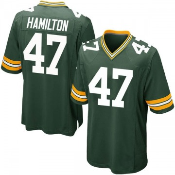 Youth Nike Green Bay Packers Javien Hamilton Green Team Color Jersey - Game