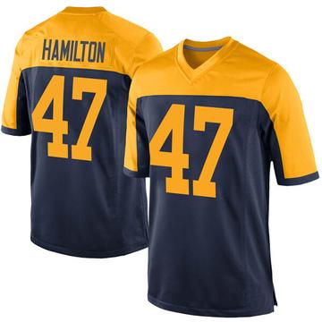 Youth Nike Green Bay Packers Javien Hamilton Navy Alternate Jersey - Game