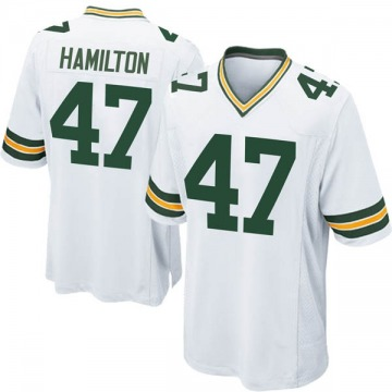 Youth Nike Green Bay Packers Javien Hamilton White Jersey - Game
