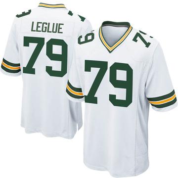 Youth Nike Green Bay Packers John Leglue White Jersey - Game
