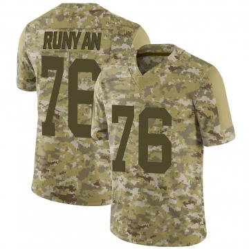 Youth Nike Green Bay Packers Jon Runyan Camo 2018 Salute to Service Jersey - Limited