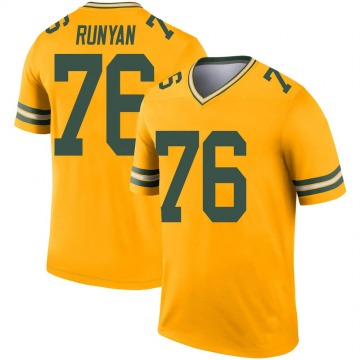 Youth Nike Green Bay Packers Jon Runyan Gold Inverted Jersey - Legend