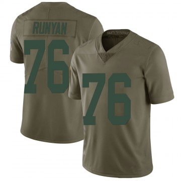 Youth Nike Green Bay Packers Jon Runyan Green 2017 Salute to Service Jersey - Limited