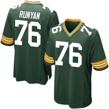 Youth Nike Green Bay Packers Jon Runyan Green Team Color Jersey - Game