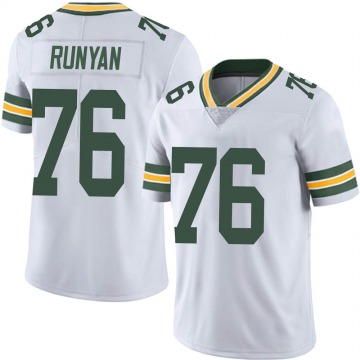 Youth Nike Green Bay Packers Jon Runyan White Vapor Untouchable Jersey - Limited