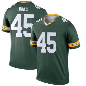 Youth Nike Green Bay Packers Jordan Jones Green Jersey - Legend