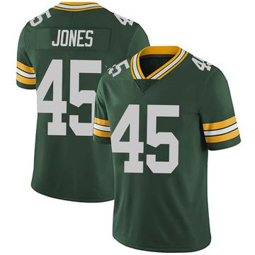 Youth Nike Green Bay Packers Jordan Jones Green Team Color Vapor Untouchable Jersey - Limited