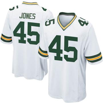 Youth Nike Green Bay Packers Jordan Jones White Jersey - Game
