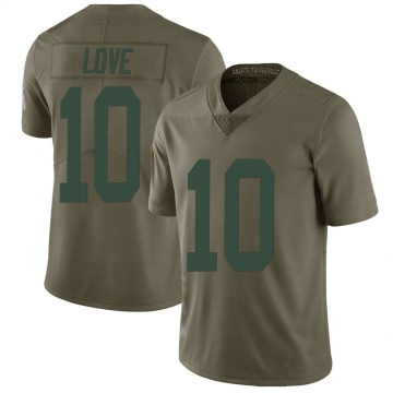 Youth Nike Green Bay Packers Jordan Love Green 2017 Salute to Service Jersey - Limited