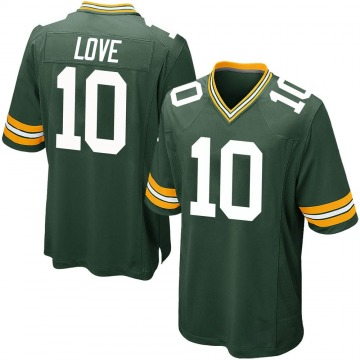 Youth Nike Green Bay Packers Jordan Love Green Team Color Jersey - Game