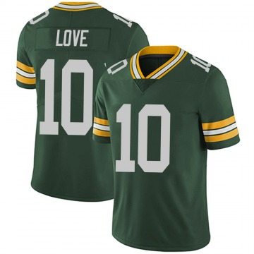 Youth Nike Green Bay Packers Jordan Love Green Team Color Vapor Untouchable Jersey - Limited