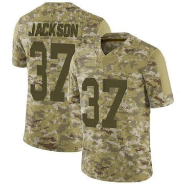 Youth Nike Green Bay Packers Josh Jackson Camo 2018 Salute to Service Jersey - Limited