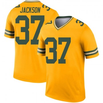 Youth Nike Green Bay Packers Josh Jackson Gold Inverted Jersey - Legend