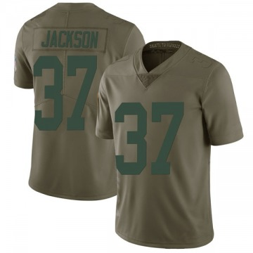 Youth Nike Green Bay Packers Josh Jackson Green 2017 Salute to Service Jersey - Limited