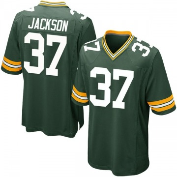 Youth Nike Green Bay Packers Josh Jackson Green Team Color Jersey - Game