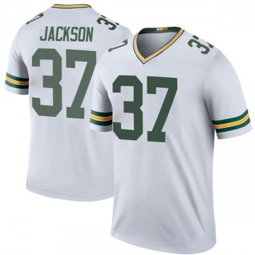 Youth Nike Green Bay Packers Josh Jackson White Color Rush Jersey - Legend