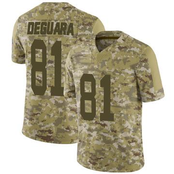 Youth Nike Green Bay Packers Josiah Deguara Camo 2018 Salute to Service Jersey - Limited