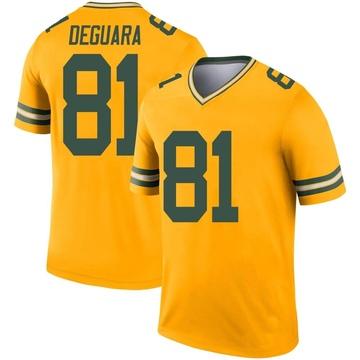 Youth Nike Green Bay Packers Josiah Deguara Gold Inverted Jersey - Legend