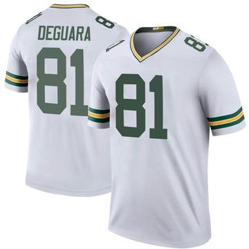 Youth Nike Green Bay Packers Josiah Deguara White Color Rush Jersey - Legend
