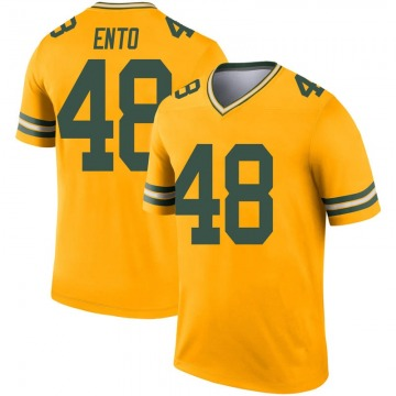 Youth Nike Green Bay Packers Kabion Ento Gold Inverted Jersey - Legend