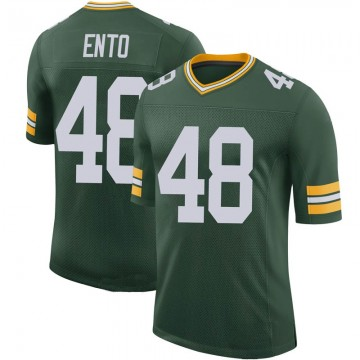 Youth Nike Green Bay Packers Kabion Ento Green 100th Vapor Jersey - Limited