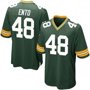 Youth Nike Green Bay Packers Kabion Ento Green Team Color Jersey - Game