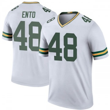 Youth Nike Green Bay Packers Kabion Ento White Color Rush Jersey - Legend