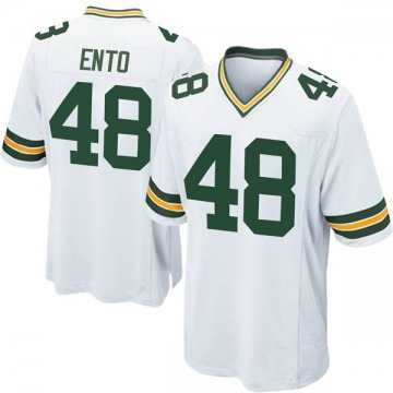 Youth Nike Green Bay Packers Kabion Ento White Jersey - Game