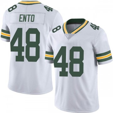 Youth Nike Green Bay Packers Kabion Ento White Vapor Untouchable Jersey - Limited