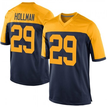 Youth Nike Green Bay Packers Ka'dar Hollman Navy Alternate Jersey - Game