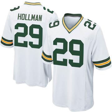 Youth Nike Green Bay Packers Ka'dar Hollman White Jersey - Game