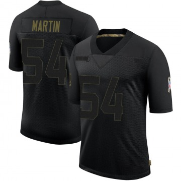Youth Nike Green Bay Packers Kamal Martin Black 2020 Salute To Service Jersey - Limited
