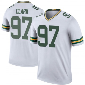 Youth Nike Green Bay Packers Kenny Clark White Color Rush Jersey - Legend