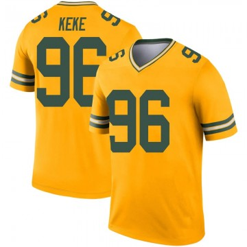 Youth Nike Green Bay Packers Kingsley Keke Gold Inverted Jersey - Legend