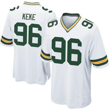 Youth Nike Green Bay Packers Kingsley Keke White Jersey - Game