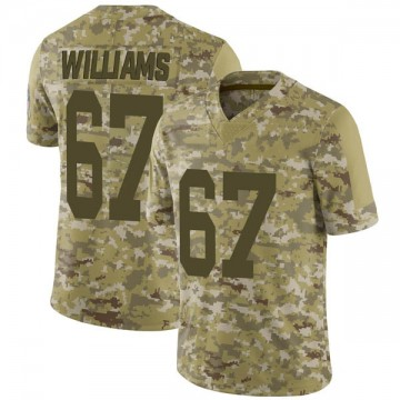 Youth Nike Green Bay Packers Larry Williams Camo 2018 Salute to Service Jersey - Limited