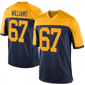 Youth Nike Green Bay Packers Larry Williams Navy Alternate Jersey - Game